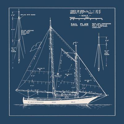 Nautical Blueprint I by The Vintage Collection