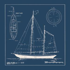 Nautical Blueprint II by The Vintage Collection