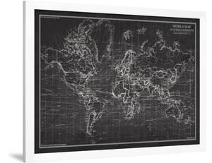 Ocean Current Map - Global Shipping Chart by The Vintage Collection
