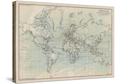 Ocean Current Map I by The Vintage Collection
