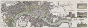 Panoramic Map of London by The Vintage Collection