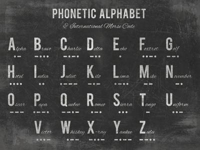 Phonetic Alphabet by The Vintage Collection