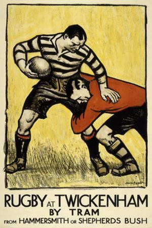 Rugby at Twickenham by The Vintage Collection