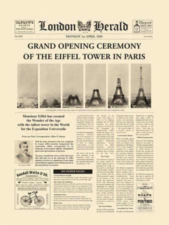 The Grand Opening Ceremony of the Eiffel Tower by The Vintage Collection