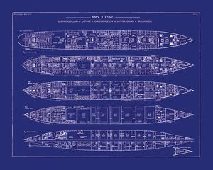 Titanic Blueprint II by The Vintage Collection