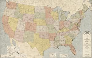 United States Map by The Vintage Collection