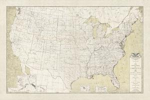 United States Outline Map by The Vintage Collection
