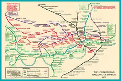 Vintage Transport Map by The Vintage Collection