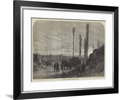 The Vintage in France, Grape Gatherers Returning--Framed Giclee Print
