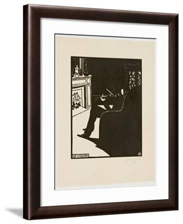 The Violin, from the Series 'Musical Instruments', 1896-97-Félix Vallotton-Framed Giclee Print