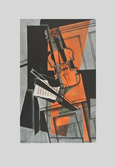 The Violin (on Handmade Paper)-Juan Gris-Collectable Print