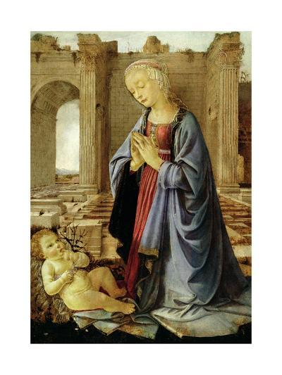 The Virgin Adoring the Christ Child (The Ruskin Madonna) C.1470-Verrocchio-Giclee Print