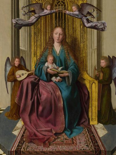 The Virgin and Child Enthroned, with Four Angels, C. 1495-Quentin Massys-Giclee Print
