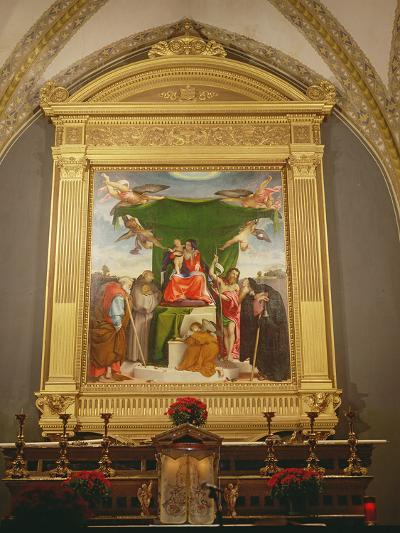 The Virgin and Child Enthroned with Saints, 1521-Lorenzo Lotto-Photographic Print