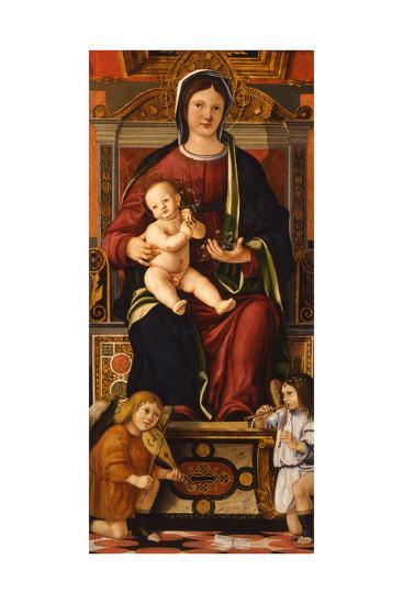 The Virgin and Child Enthroned with Two Musician Angels, 1508-1510-Cristoforo Caselli-Giclee Print
