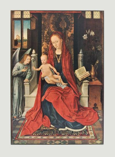 The Virgin and Child Enthroned-Hans Memling-Collectable Print
