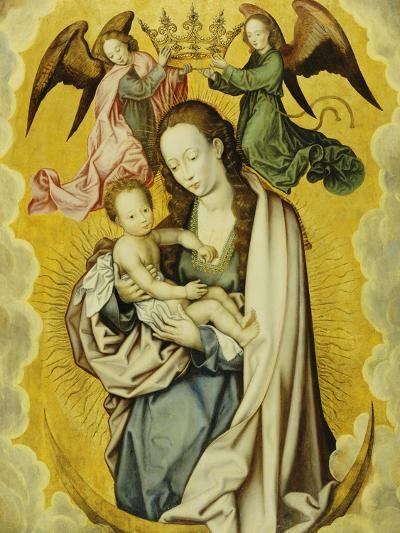The Virgin and Child in Glory, with Two Angels Holding the Virgin's Crown--Giclee Print
