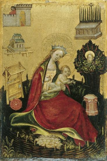 The Virgin and Child in the Hortus Conclusus--Giclee Print