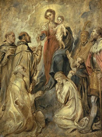 The Virgin and Child of the Rosary-Herri Met De Bles-Giclee Print