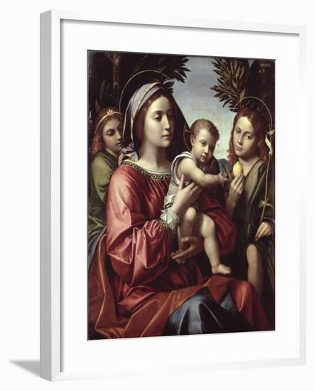 The Virgin and Child, St. John the Baptist and an Angel-Paolo Morando-Framed Giclee Print