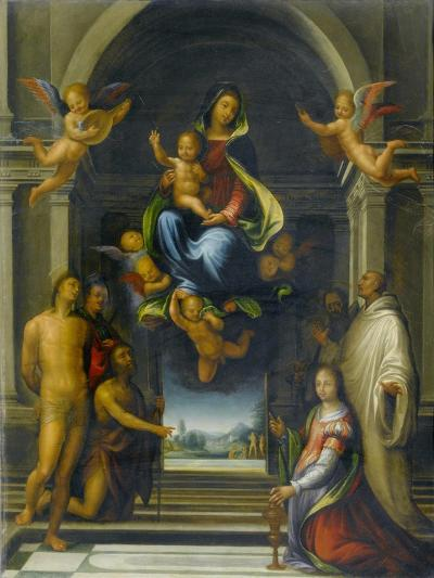 The Virgin and Child Surrounded by Saints, C.1570-1674-Fra Bartolommeo-Giclee Print