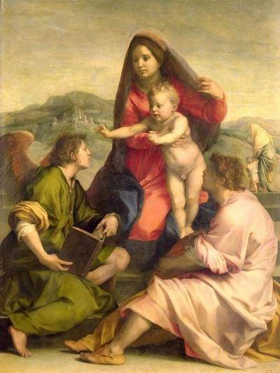 The Virgin and Child with a Saint and an Angel, c.1522-23-Andrea del Sarto-Giclee Print