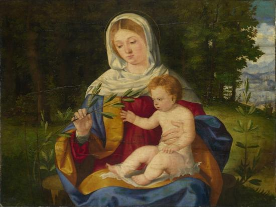 The Virgin and Child with a Shoot of Olive, Ca 1515-Andrea Previtali-Giclee Print
