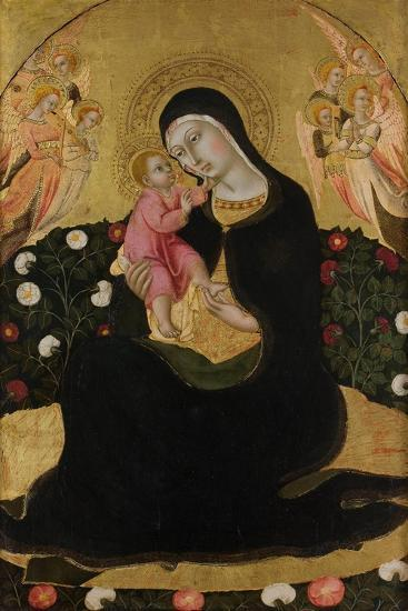 The Virgin and Child with Angels (Madonna of Humilit), Mid of the 15th C-Sano di Pietro-Giclee Print