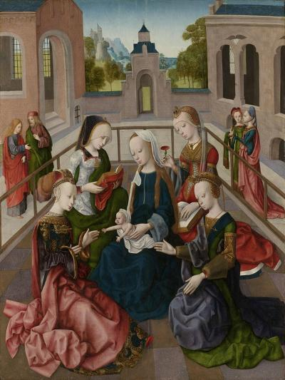 The Virgin and Child with Four Holy Virgins, C.1495-1500--Giclee Print