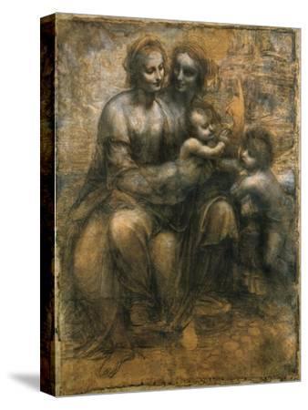 The Virgin and Child with Saint Anne and Saint John the Baptist, C1500-Leonardo da Vinci-Stretched Canvas Print