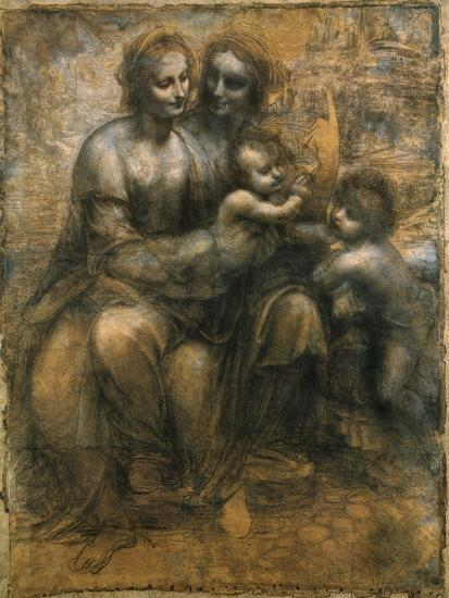 The Virgin and Child with Saint Anne and Saint John the Baptist, C1500-Leonardo da Vinci-Giclee Print