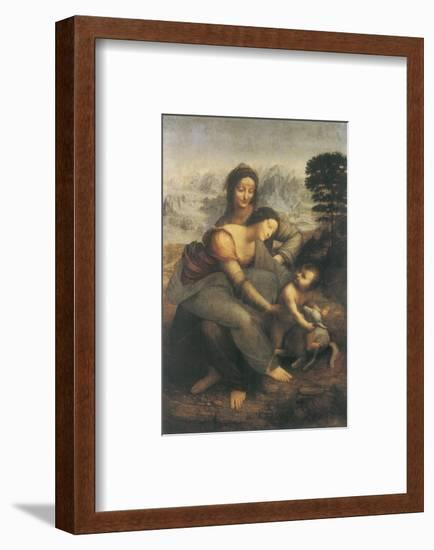 The Virgin and Child with Saint Anne-Leonardo da Vinci-Framed Premium Giclee Print
