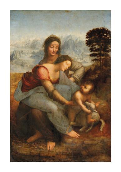 The Virgin and Child with Saint Anne-Leonardo Da Vinci-Premium Giclee Print