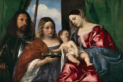 The Virgin and Child with Saint Dorothy and Saint George, 1515-18-Titian-Giclee Print