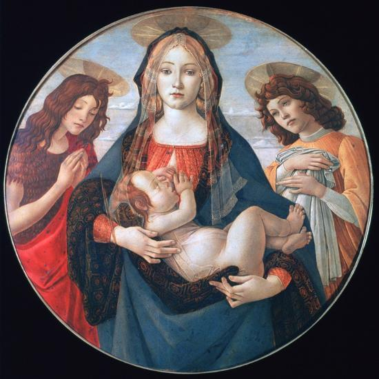 The Virgin and Child with Saint John and an Angel, C1490-Sandro Botticelli-Giclee Print