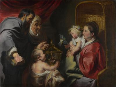 The Virgin and Child with Saints Zacharias, Elizabeth and John the Baptist, C. 1620-Jacob Jordaens-Giclee Print