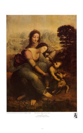 The Virgin and Child with St. Anne-Leonardo da Vinci-Art Print