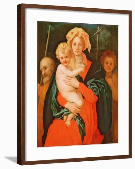 The Virgin and Child with St. Joseph and John the Baptist, 1521-27 (See also 80193)-Jacopo Pontormo-Framed Giclee Print