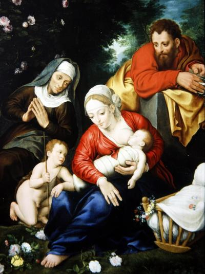 The Virgin and Child with St Joseph, Elizabeth and St John--Giclee Print