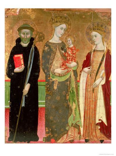 The Virgin and Child with St. Olivia and St. Benedict- Master Of Rubio-Giclee Print