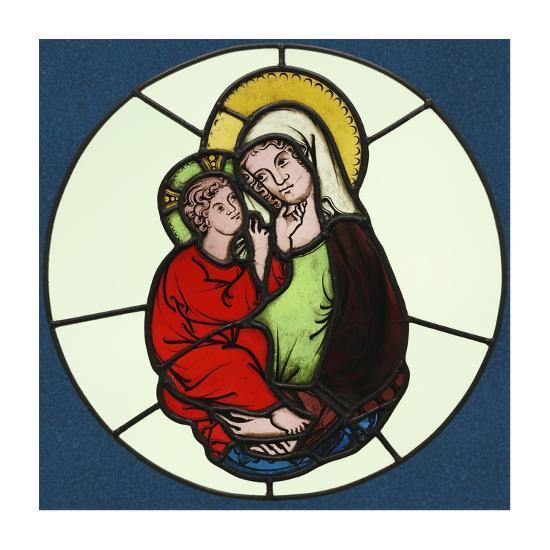 The Virgin and Child-Unknown 14th Century Austrian Illuminator-Art Print