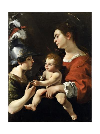 The Virgin and the Child with St. Michael-Rutilio Manetti-Giclee Print
