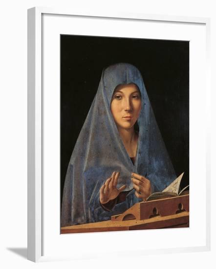 The Virgin Annunciate-Antonello da Messina-Framed Giclee Print