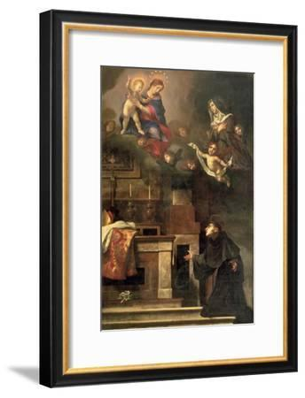 The Virgin Appearing to St. Louis of Toulouse-Carlo Dolci-Framed Giclee Print