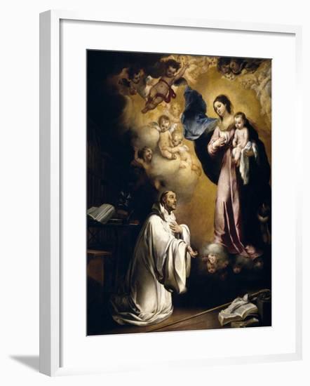 The Virgin Appears to Saint Bernard, Ca. 1655-Bartolome Esteban Murillo-Framed Giclee Print