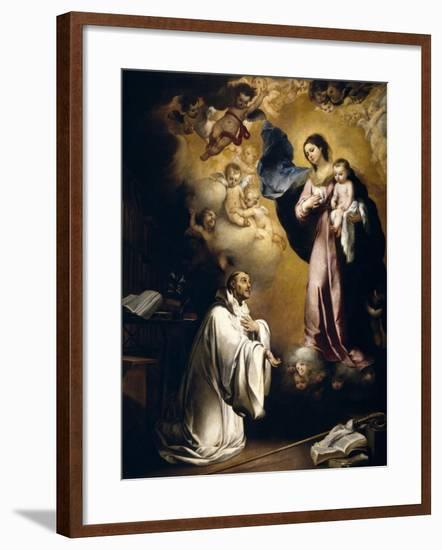 The Virgin Appears to Saint Bernard, Ca. 1655-Bartolome Esteban Murillo-Framed Giclee Print