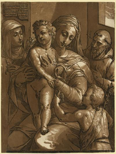 The Virgin, Child, and Saints--Giclee Print
