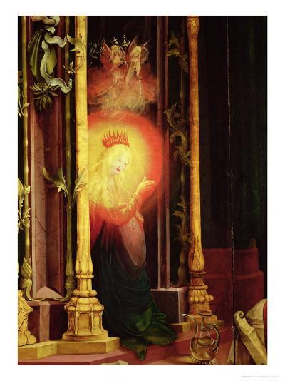 The Virgin Illuminated, Detail from the Concert of Angels from the Isenheim Altarpiece-Matthias Gr?newald-Giclee Print