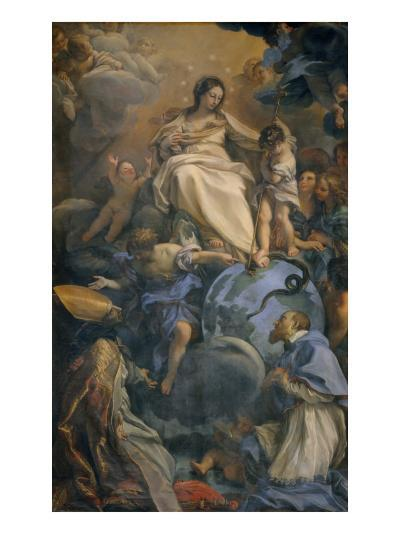 The Virgin in Glory Between Saint Francis of Sales and Saint Thomas of Villanova-Carlo Maratti-Giclee Print
