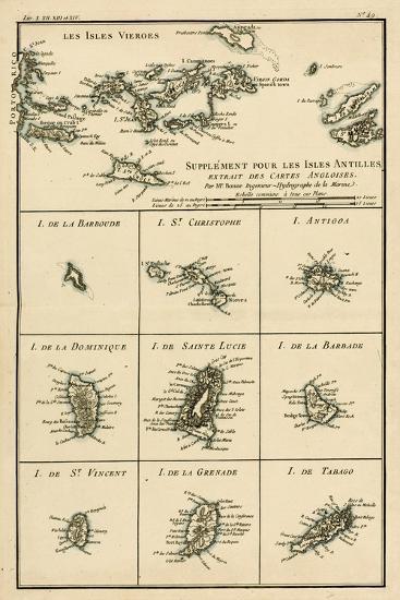 The Virgin Islands, from 'Atlas De Toutes Les Parties Connues Du Globe Terrestre' by Guillaume…-Charles Marie Rigobert Bonne-Giclee Print